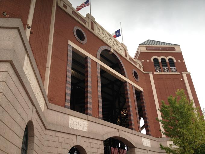 舞台となったテキサス・レンジャーズの本拠地レンジャーズ・ボールパーク・イン・アーリントン