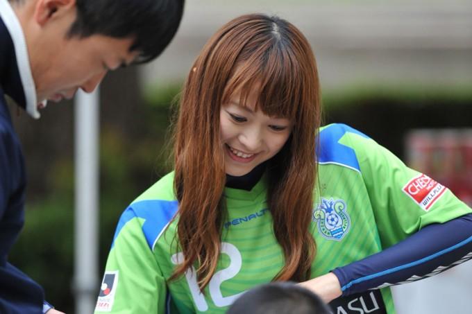 2013年「ベルマーレクイーン」活動時のかすみんさん Photo by 湘南ベルマーレ