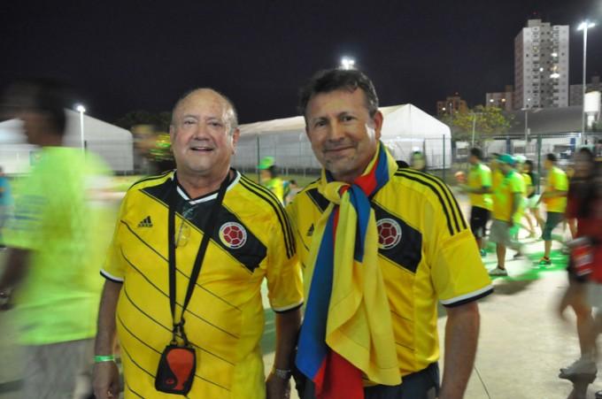 「コロンビアが強かっただけ」と話すコロンビア人2人組