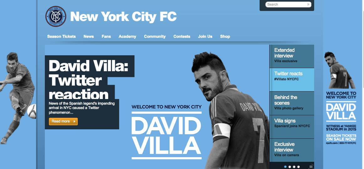 ニューヨーク・シティFCで大歓迎 ダビド・ビジャとマンCグループの国際戦略