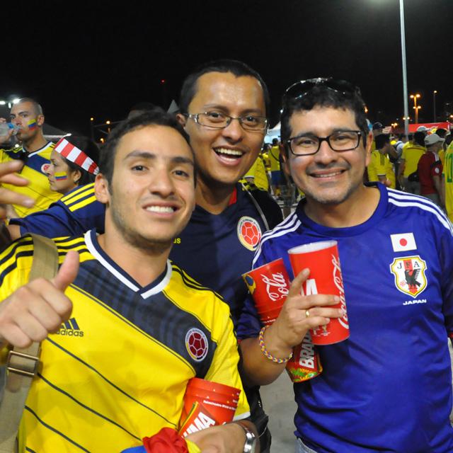 【W杯現地レポート】「日本対コロンビア」世界のサポーターと代表への感謝