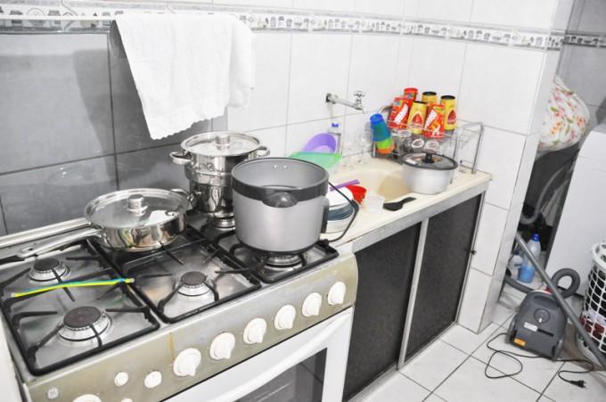 キッチンや洗濯機も気兼ねなく使える。清潔に使うのがホストと上手くやるコツ