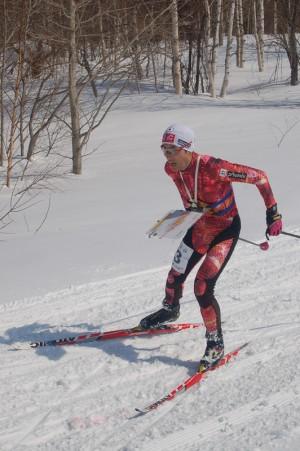 スキーオリエンテーリングの堀江守弘選手