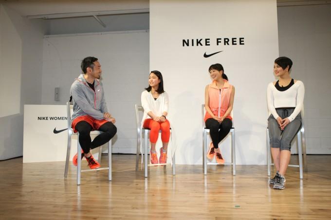 トークセッションでは為末大さん、高梨沙羅選手(スキージャンプ)、福内櫻子選手(陸上)、KOHARU さん(ダンサー)が登場。
