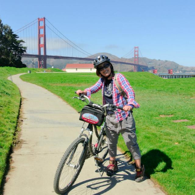 サンフランシスコのゴールデン・ゲート・ブリッジを自転車で渡ろう