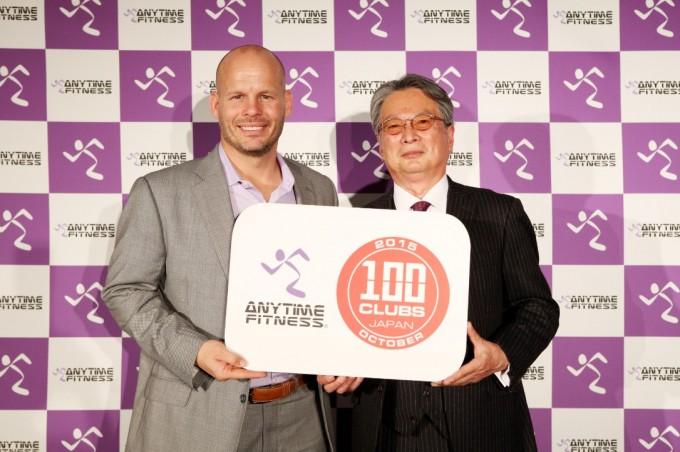 左:ANYTIME FITNESS代表取締役 デイブ・モーテンセン氏、右:Fast Fitness Japan代表取締役社長 加藤 薫氏