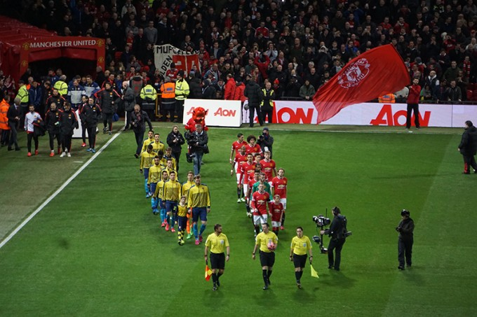 2015年3月、FAカップ準々決勝のオールド・トラフォード。アーセナルがマンチェスター・ユナイテッドに1-2で勝利