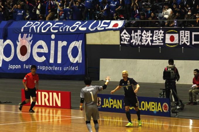 親善試合コロンビア戦でゴールを決めた森岡選手