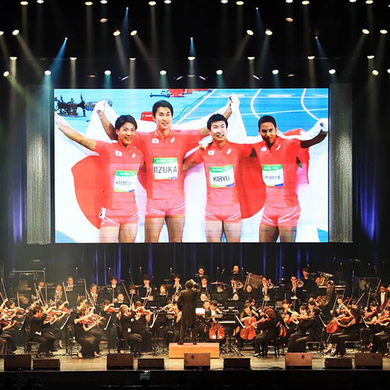 音楽と共に感動の映像で贈るオリンピックコンサート開催!
