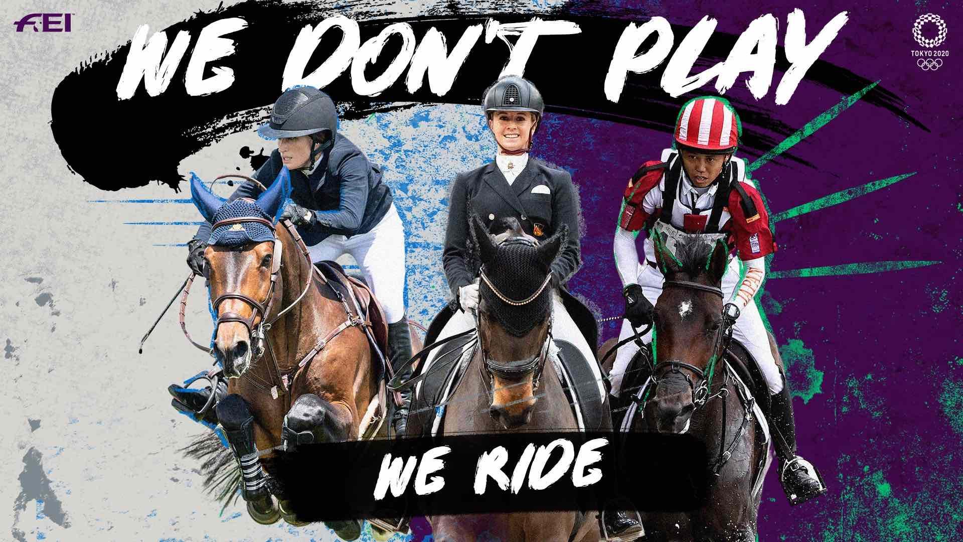 オリンピック馬術「#WeDontPlay」キャンペーン動画約580万回再生
